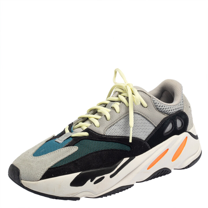 Yeezy x adidas Multicolor Mesh And Suede Boost 700 Wave Runner Sneakers Size 43 1/3