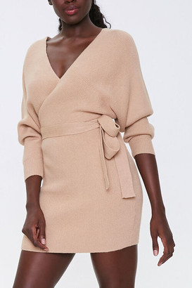 Forever 21 Ribbed Wrap Mini Dress