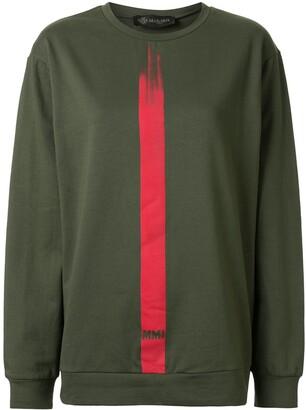 Mr & Mrs Italy Stripe Detail Logo Sweatshirt