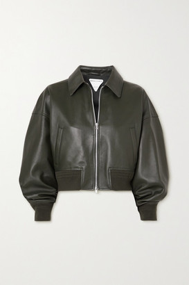 Bottega Veneta Leather Jacket - Green