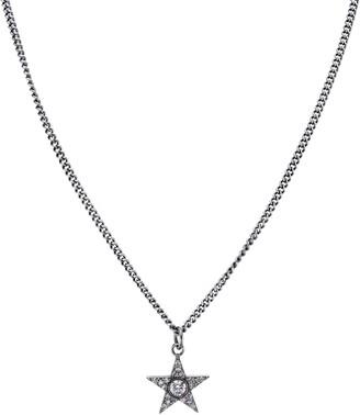 Sheryl Lowe Bezel Diamond Star Pendant Necklace