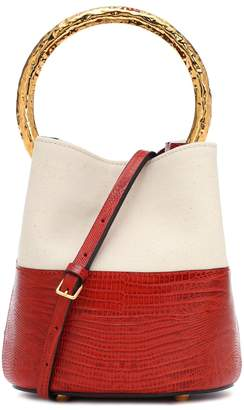 Marni Pannier Small embossed bucket bag