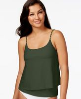 MICHAEL Michael Kors Layered Chain-Trim Tankini Top