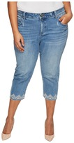 Lucky Brand Plus Size Emma Crop Jeans in Blue Palms
