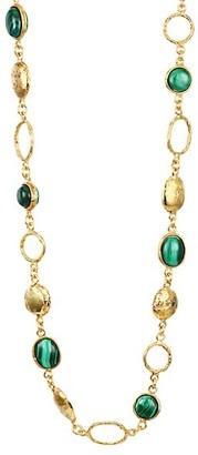 Sylvia Toledano Lee 22K Goldplated & Malachite Necklace