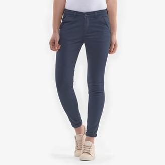 Le Temps Des Cerises Cotton Straight Trousers with Tie Belt