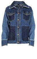 McQ by Alexander McQueen Patchwork Frayed Denim Jacket