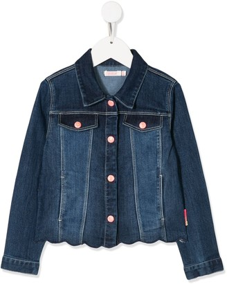 Billieblush Sequin Embroidered Denim Jacket