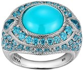 Judith Ripka Sterling Blue Chalcedony & Diamonique Ring