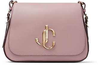 Jimmy Choo VARENNE/XB Mauve Calf Leather Cross Body Bag with JC Logo