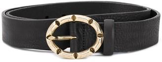 Just Cavalli Oval Engraved Buckle Belt
