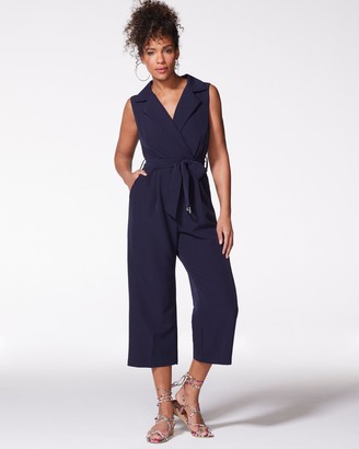Vince Camuto Collared Cropped Jumpsuit