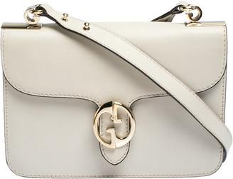 Gucci Cream Leather Medium 1973 Flap Shoulder Bag