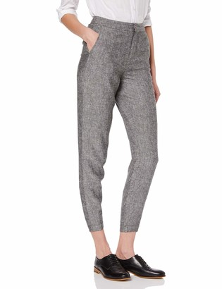 Meraki Women's Standard Cropped Linen Pants