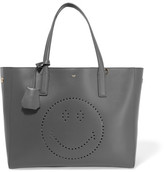 Anya Hindmarch Ebury Smiley Perforated Leather Tote - Dark gray