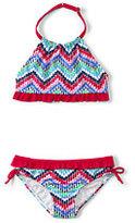 Classic Girls Bikini Swimsuit Set-Pale Moss Paisley