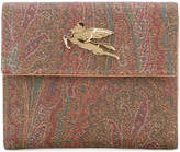 Etro metallic plaque bi-fold wallet