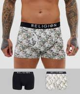 Religion mens prayin skeleton trunks 2 pack