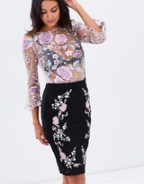 Lipsy Embroidered Lace Pencil Skirt