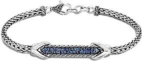 John Hardy Sterling Silver Asli Blue Sapphire Id Bracelet