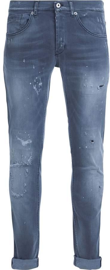 Dondup George Light Grey Washed Denim Jeans