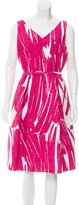 David Meister Belted Abstract Dress w/ Tags