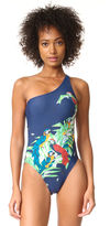 Norma Kamali One Shoulder Swimsuit