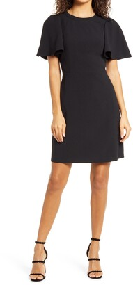 Eliza J Flutter Sleeve Sheath Dress