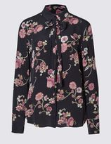 Marks and Spencer Long Sleeve Floral Print Blouse