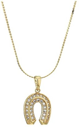 Vanessa Mooney The Superstitious Necklace (Gold) Necklace