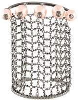 Gucci pearl chain cuff bracelet