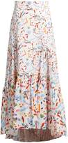 Peter Pilotto Abstract-print dip-hem skirt