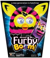 Furby Boom Black And Pink Straight Stripes