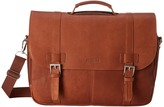 Kenneth Cole Reaction Show Business Columbian Leather Flapover 15.4 Computer Portfolio Computer Bags