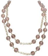One Kings Lane Vintage Two-Strand Smoky Quartz Bead Necklace
