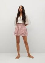 Thumbnail for your product : MANGO Ruffled printed miniskirt