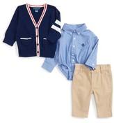 Andy & Evan Infant Boy's Varsity Cardigan, Bodysuit & Pants Set