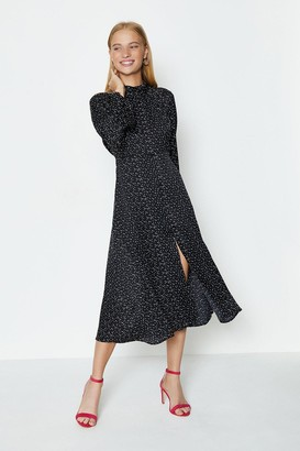 Coast Long Sleeve Tie Back Midi Dress