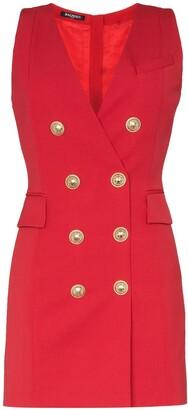 Balmain double-breasted sleeveless blazer dress