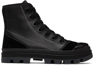Jimmy Choo Black Leather Nord Sneakers
