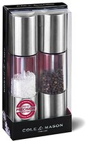 Cole & Mason Precision Grind Oslo Salt and Pepper Mill Gift Set - Acrylic and Stainless Steel/Clear, 18.5 cm