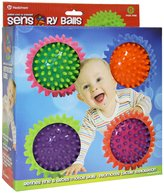 "Hedstrom 4 Assorted 3.5"" Round 2-Color Sensory Balls"