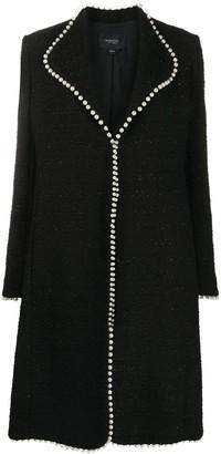 Giambattista Valli Faux-Pearl Trim Tailored Coat