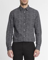 Selected Black Shdonebenson Papyrus All-Over Print Slim Shirt