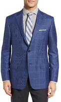 Hickey Freeman Men's Classic Fit Windowpane Cashmere & Silk Sport Coat