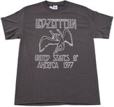 Bravado Led Zeppelin USA 1977 Concert Tour Grey Vintage T Shirt Adult