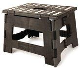 Kikkerland Rhino Easy Fold Step Stool, Short, Black