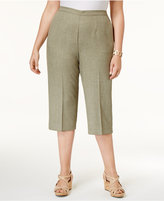 Alfred Dunner Plus Size Botanical Garden Collection Pull-On Textured Capri Pants