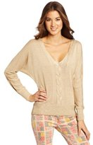 XOXO Juniors Cable Front Dolman Pullover