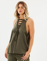 One Teaspoon Radar Lace Up Tank